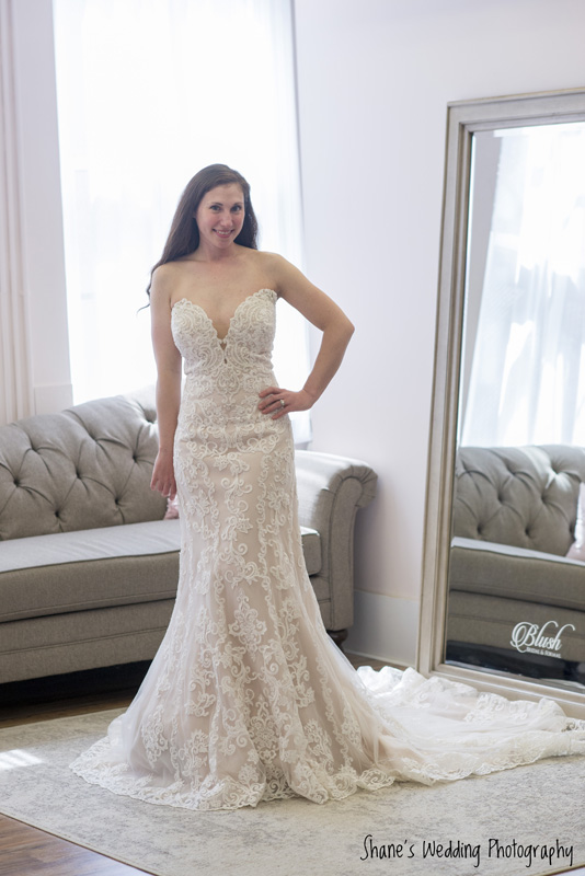 0519eab6d3b56 Real Maine Weddings - VOTE for Jackie's Wedding Gown from Blush ...